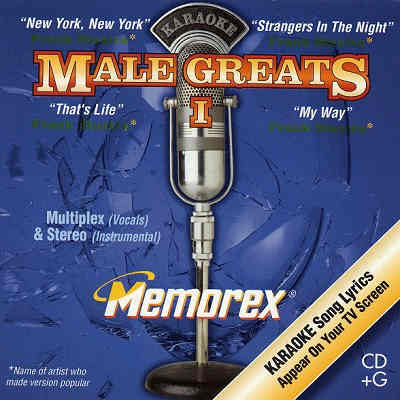 Memorex Karaoke MXMG01 - Front - Male Greats 1 - Karaoke Song Books For Sale