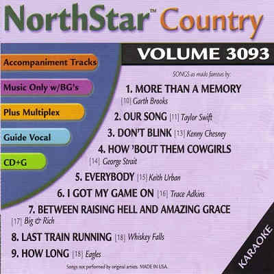 NorthStar Karaoke NSC3093 - Back - CDG