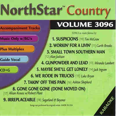 NorthStar Karaoke NSC3096 - Back country collection and song lists