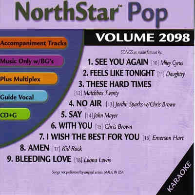 NorthStar Karaoke NSP2098 - Back CD+G