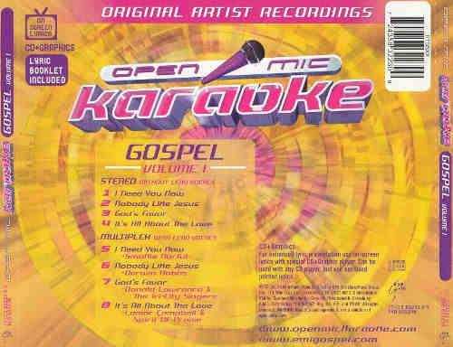 Open Mic Karaoke cdg back cover orange