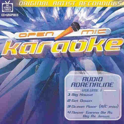 Open Mic Karaoke discs - blue cover