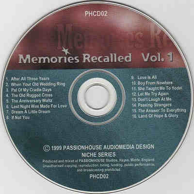 Passionhouse Karaoke PHCD02 - Label - Karaoke Shack - the song book people