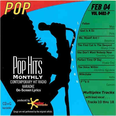 Pop Hits Monthly Karaoke PHM0402 - Front CDG