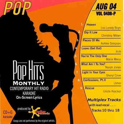 Pop Hits Monthly Karaoke PHM0408 - Front CD+G