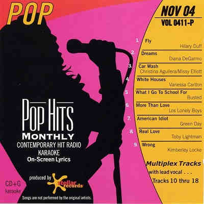 Pop Hits Monthly Karaoke PHM0411 - Front - KJ song cooks