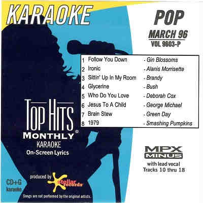 Pop Hits Monthly Karaoke PHM9603 - Front - song books