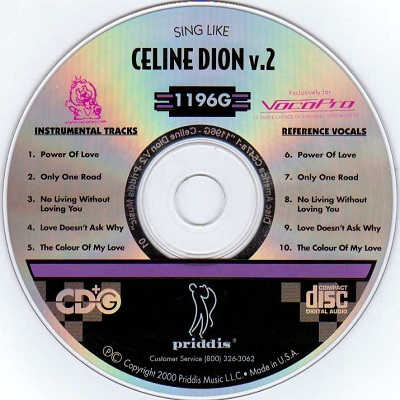 Priddis Karaoke PR1196 - Label CD+G