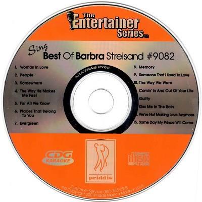 Priddis Karaoke PR9082 - Label - Barbra Streisand