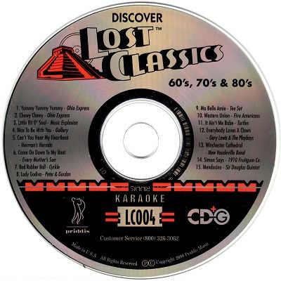 Priddis Lost Classics Karaoke LC04 - Label - KJ & DJ song books