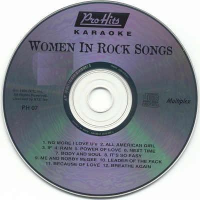 Pro Hits Karaoke PH07 - CDG Label - song books