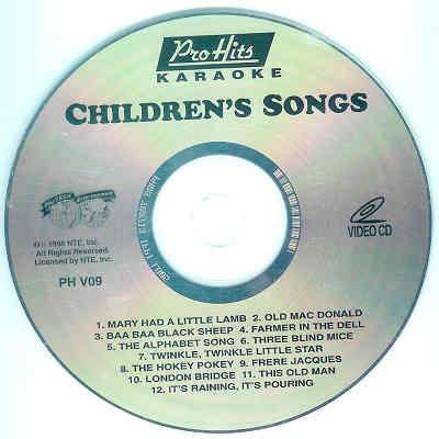 Pro Hits Karaoke PH09 - Label KJ song lists