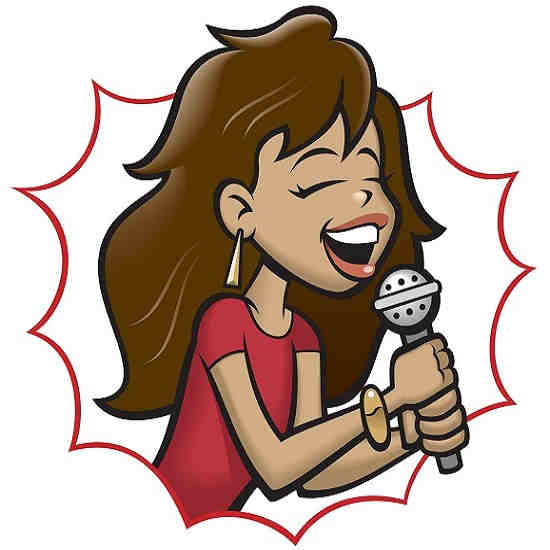 Pro Hits karaoke series - woman sings on microphone