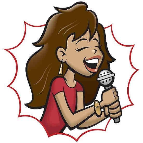Pro Hits karaoke series - woman sings on microphone