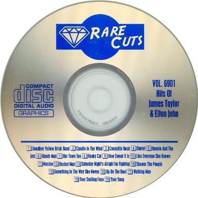Rare Cuts Karaoke RC6901 - CDG - KJ song lists