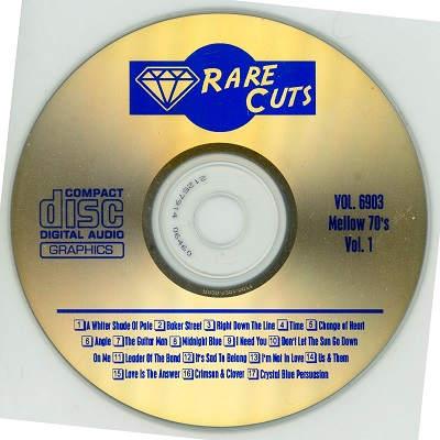 Rare Cuts Karaoke RC6903 CDG Label