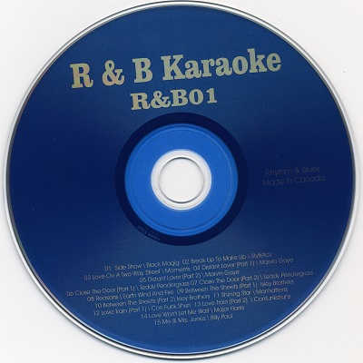 Rhythm and Blues Karaoke RB01 - Label - DJ Song Books