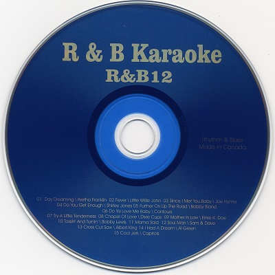 Rhythm and Blues Karaoke RB12 - Label - KJ song books downloads