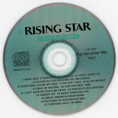 Rising Star Karaoke RS501 - Label CDG