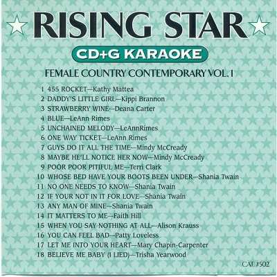 Rising Star Karaoke RS502 - Back - tracks discs and lists