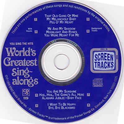 Screen Tracks Karaoke ST0119 - Label - KJ & DJ song books