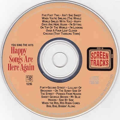 Screen Tracks Karaoke ST0126 - Label - KJ & DJ Song Lists