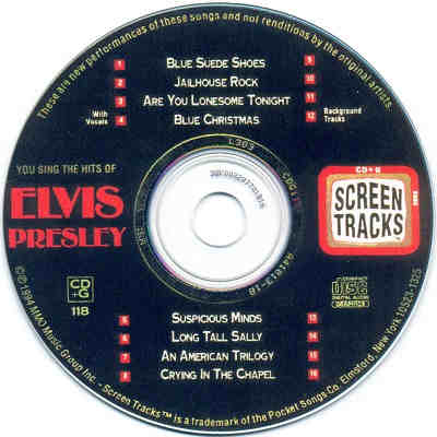 Screen Tracks Karaoke STO118 - Label CDG