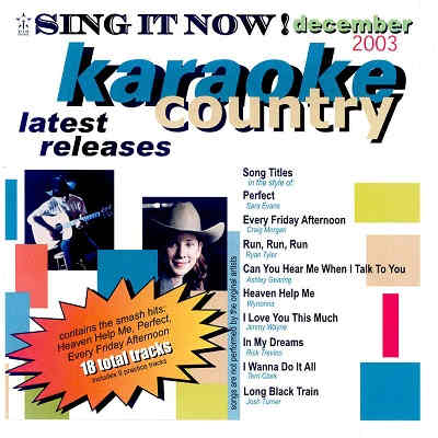 Sing It Now Karaoke SINC0312 - Front CDG