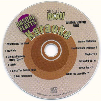 Sing It Now Karaoke - SINSS002 - Label CDG