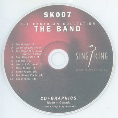 Sing King Karaoke SKK007 - Label - KJ & DJ song books