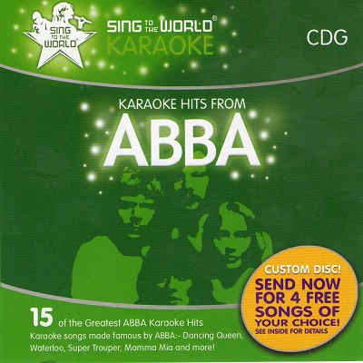 Sing To The World Karaoke STTW1240 - Front ABBA