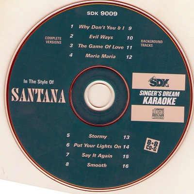Singers Dream Karaoke SDK9009 - Label - DJ & KJ song books