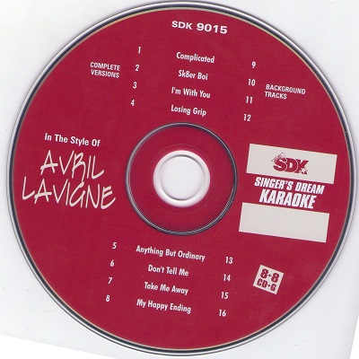 Singers Dream Karaoke SDK9015 - Label - DJ & KJ song lists