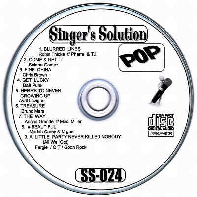 Singers Solution Karaoke - SS024 CDG Label