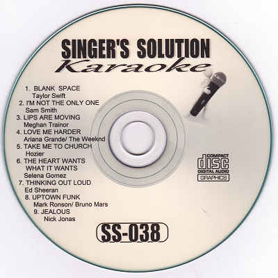 Singers Solution Karaoke - SS038 CDG Label