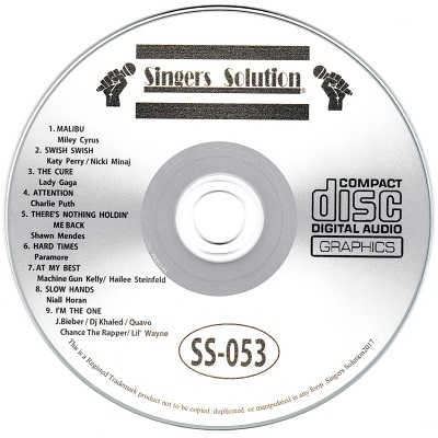 Singers Solution Karaoke - SS053 CDG Label