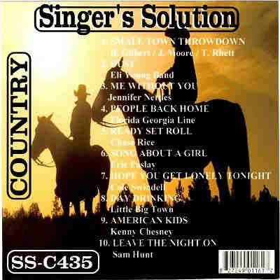 Singers Solution Karaoke SSC435 CDG Front