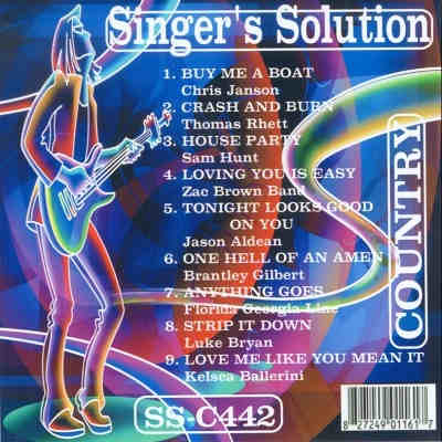 Singers Solution Karaoke SSC442 CD+G Front