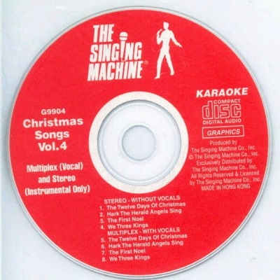 Singing Machine Karaoke SM9904 - Label song lists