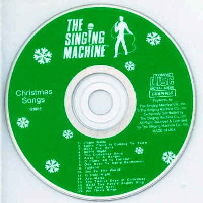 Singing Machine Karaoke SM9905 - Label CD song lists