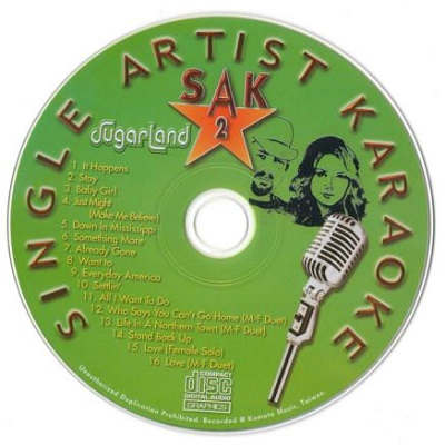 Single Artist Karaoke SAK002 - CD - KJ song books