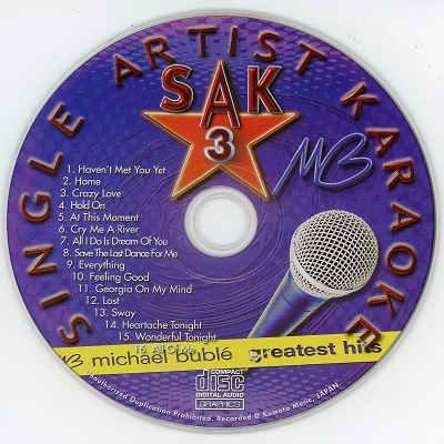 Single Artist Karaoke SAK003 CD+G