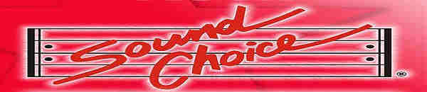 Sound Choice Karaoke Reviews Page 1 - logo and banner in red