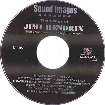 Sound Images Karaoke SI105 - Label - DJ & KJ song lists