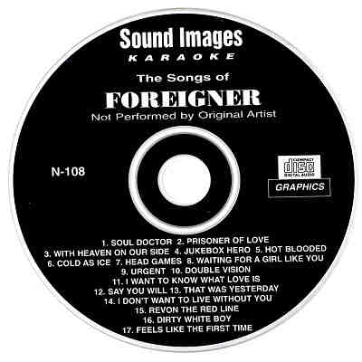Sound Images Karaoke SI108 - Label CD+G