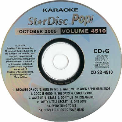 StarDisc Karaoke SD4510 - Label Star Disc CDG