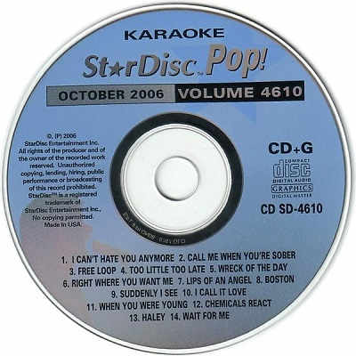 StarDisc Karaoke SD4610 - Label Star Disc CD+G