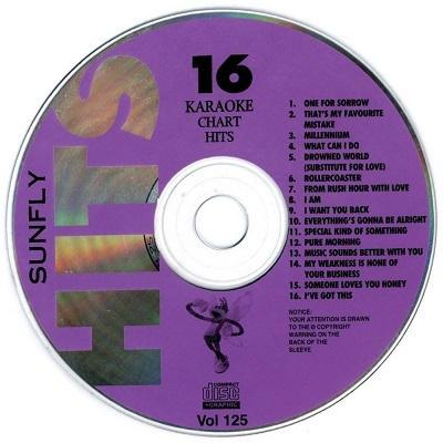 Sunfly Karaoke Disc SF125 - Label - CD+G