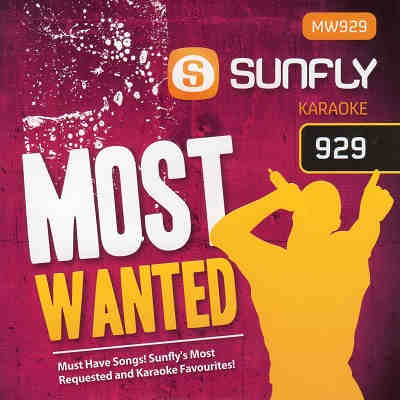 Sunfly Karaoke Most Wanted Disc SFMW929 - Front - DJ song lists