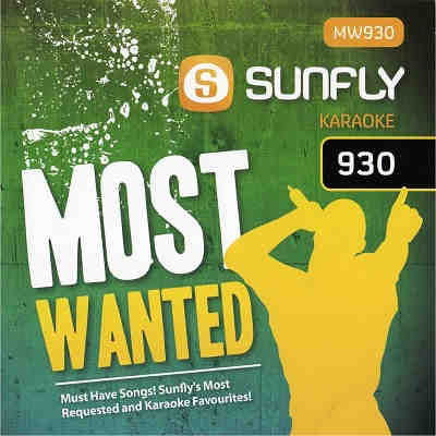 Sunfly Karaoke Most Wanted Disc SFMW930 - Front - KJ song books and lists